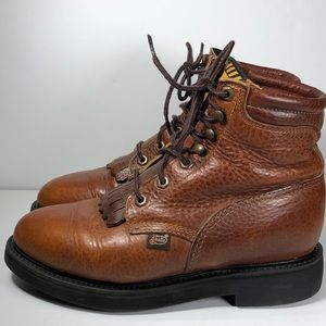 Justin Boots Kiltie Made in USA sz. 7.5